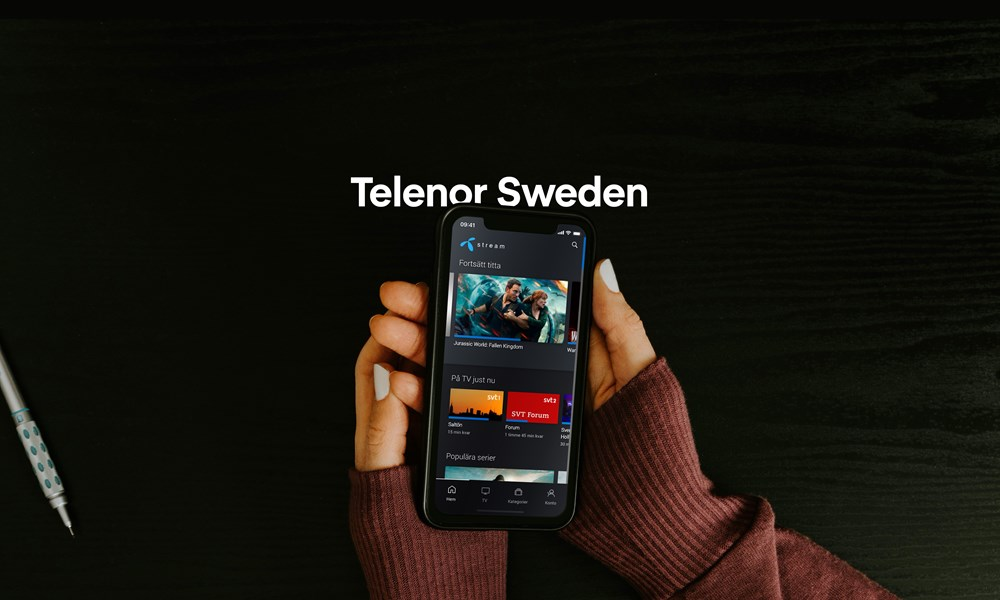 Telenor Sweden launches new TV- and Media platform by Nordija